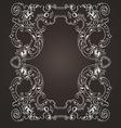 Ornate Frame On Brown vector image vector image