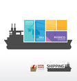 infographic Template with shipping boat vector image vector image