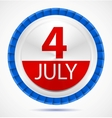 4th July label vector image