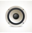 Vintage White Audio Speaker vector image vector image