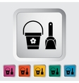 Pail and shovel vector image vector image