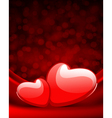two hearts on silk vector image