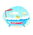 Bathroom concept design vector image