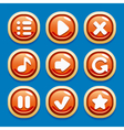 collection of buttons for gaming interfaces vector image