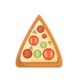 delicious pizza fast food vector image
