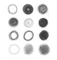 hand-drawn circles vector image