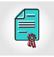 line patent icon vector image