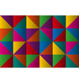 triangles with color gradient anstract background vector image