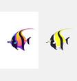 tropical fish moorish idol vector image
