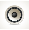 Vintage White Audio Speaker vector image
