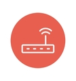 Wifi router modem thin line icon vector image