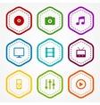 Media badges vector image vector image