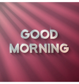 Good Morning Phrase with Sun Flares vector image