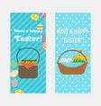 happy easter vertical flyers template vector image vector image