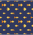 seamless pattern with golden fishes vector image vector image