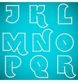 Connections Alphabet Font Set 2 J to R vector image