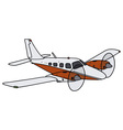 Twin engine airplane vector image vector image