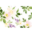 Watercolor flower pattern vector image