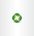 logo green leaf circle eco symbol vector image