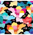 Seamless graphic pattern with beautiful flowers vector image vector image