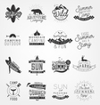 Beach and Camping Elements Badges and Labels vector image