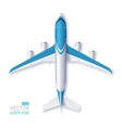 Blue Airplane vector image