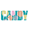 Candy sign vector image