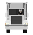Cartoon style truck driver driving No outline vector image
