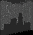 castle under the storm vector image