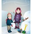 children on a walk vector image