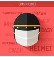 Helmet for self protect icon vector image