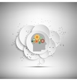 icon of human head with gears vector image