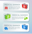 medical care horizontal banners vector image