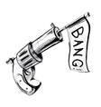 Revolver icon with checkbox vector image