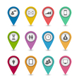 Set business infographics icons for design website vector image