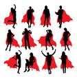 super secretary silhouettes vector image