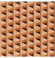 wooden building vector image vector image