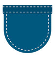 blue jeans pocket icon isolated vector image