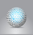 3d sphere decorated with geometric abstract shape vector image