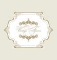 vintage greeting card decorative gold frame vector image