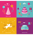 Wedding Party Set - Photobooth Props vector image vector image