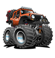 4x4 Off Road Vehicle Cartoon vector image