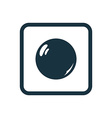 pearl icon Rounded squares button vector image