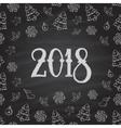 Christmas or New Year blackboard design vector image vector image