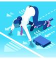 Ambitious business change 100 Job Ambitions vector image