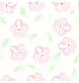 Floral seamless pattern watercolor flowers pastel vector image