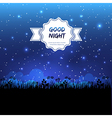 Good night design vector image