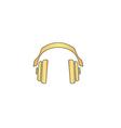 Headphones computer symbol vector image