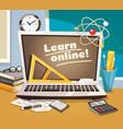 online learning design concept vector image