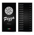 pizza menu design on black set two vector image